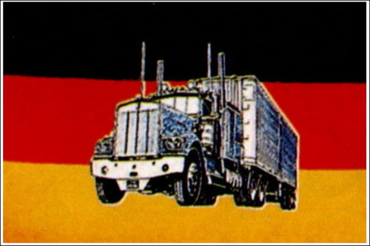 Flagge Deutschland mit Truck