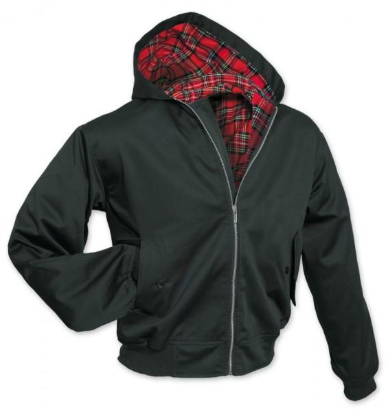 Hooded Harrington Jacke schwarz