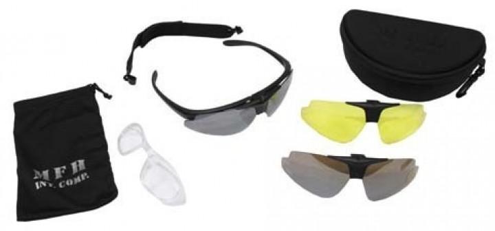Sportbrille Hawk schwarz