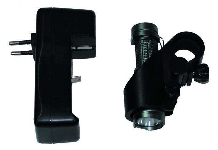 Stab Taschenlampe 3 Watt LED wiederaufladbar