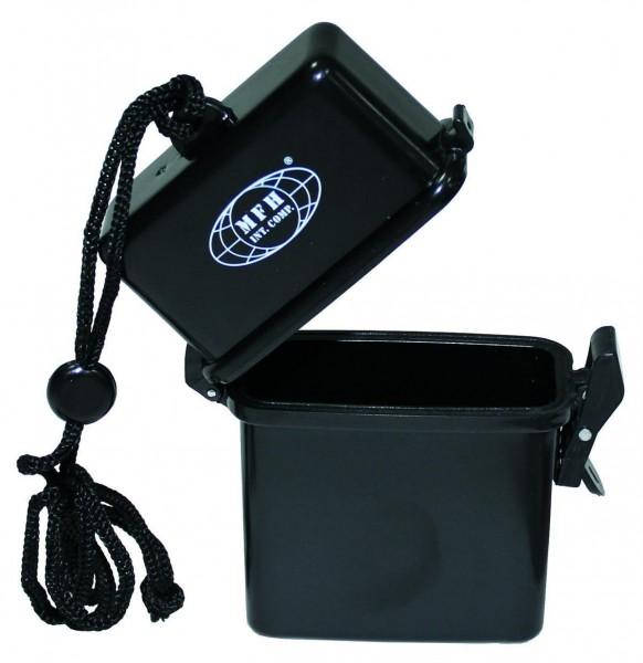 Kunststoff Box mit Nackenband schwarz