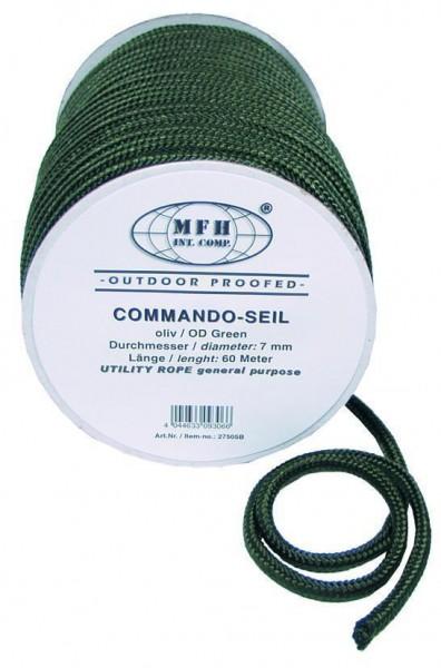 60m Seil 7mm oliv