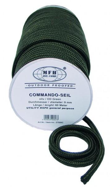 60m Seil 9mm oliv