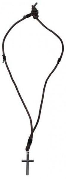Leder Halskette Kreuz klein