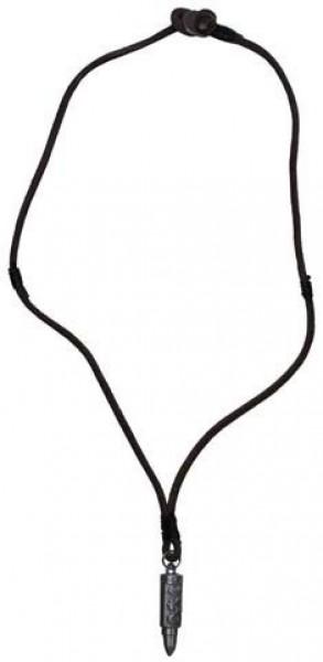 Leder Halskette Patrone silber