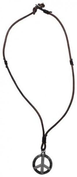 Leder Halskette Frieden