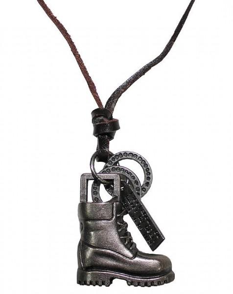 Leder Halsband Stiefel