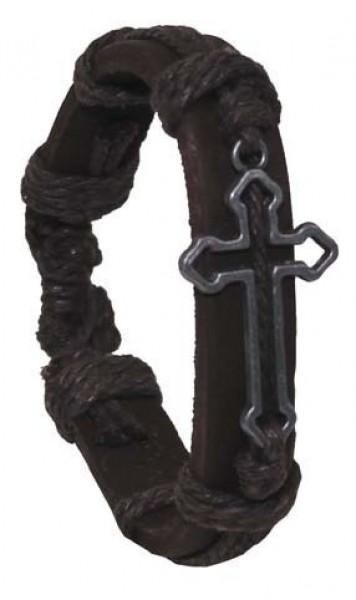 Leder Armband Kreuz