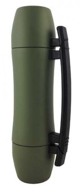 Design Edelstahl-Thermoskanne oliv