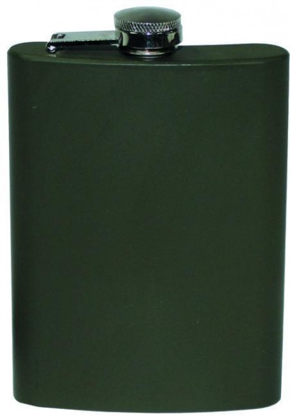 Edelstahl Flachmann 225ml oliv