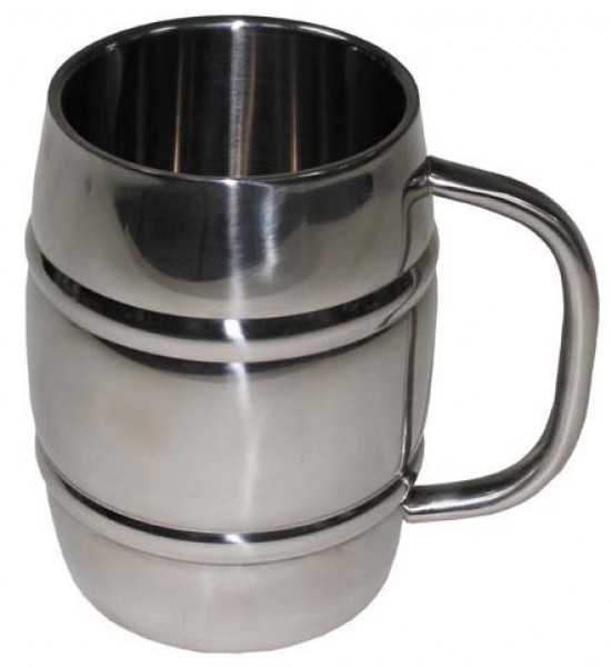 Edelstahl Bierkrug 1 Liter