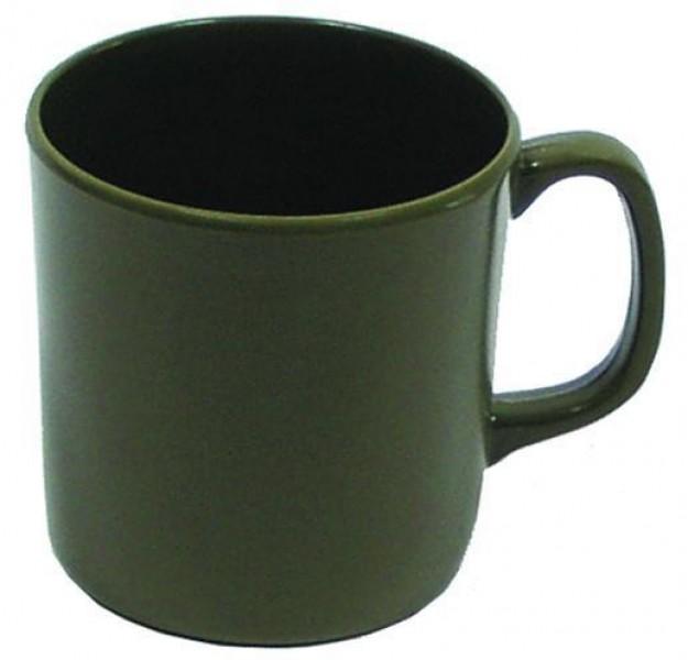 Tasse Melamin oliv