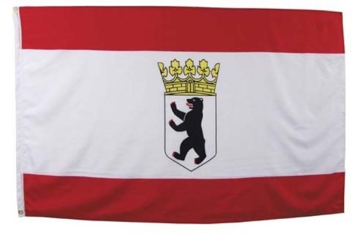 Flagge Berlin mit Wappen