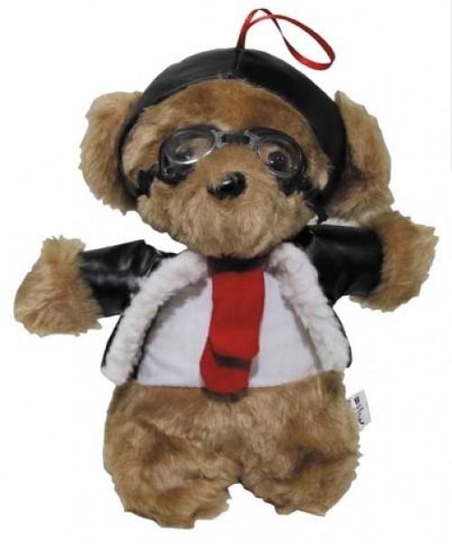 Pilotenbär mit Fliegerbrille 24 cm
