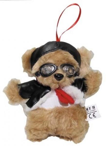 Pilotenbär mit Fliegerbrille 14cm