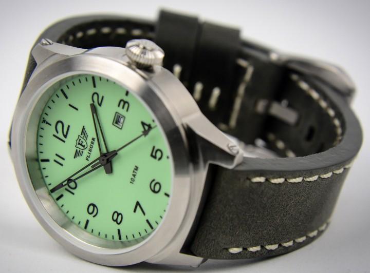 Automatik Flieger Armbanduhr mit Lederarmband