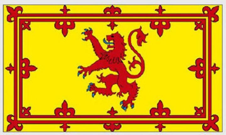 Flagge Schottland mit Löwe